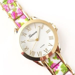 Accessories - Pink Floral Watch